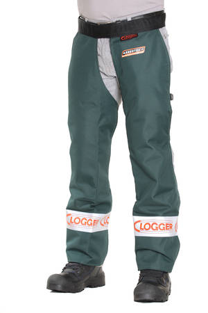 Clogger Chainsaw Chaps Clipped